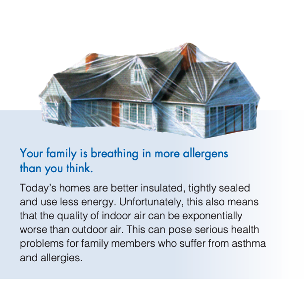 Air purification allergens